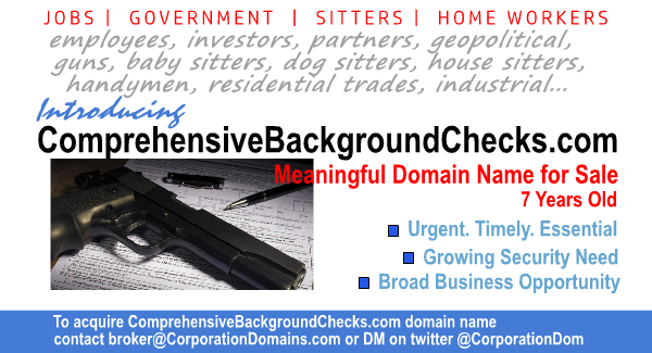 Comprehensive Background Checks url for sale