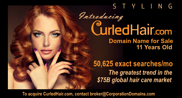 CurledHair.com domain name for sale in beauty and haircare retail and ecommerce markets