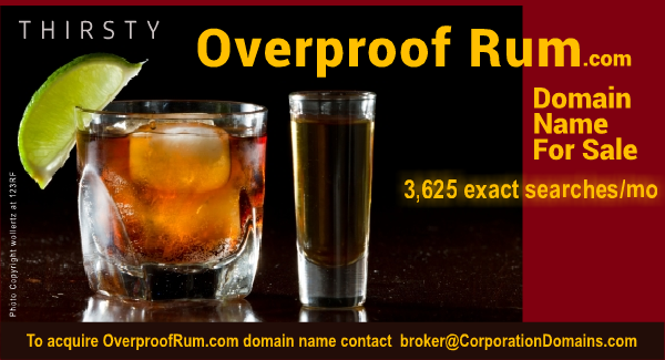 OverproofRum.com domain name for sale