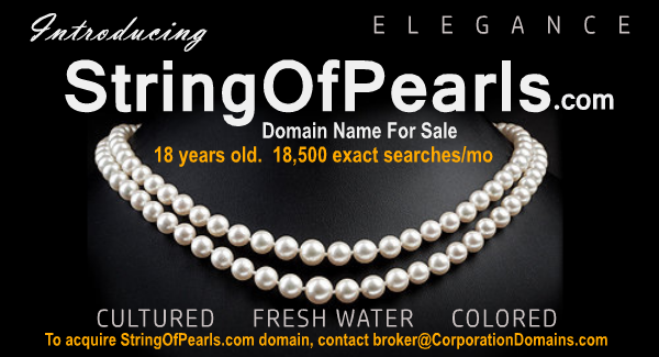 String of Pearls domain name for sale