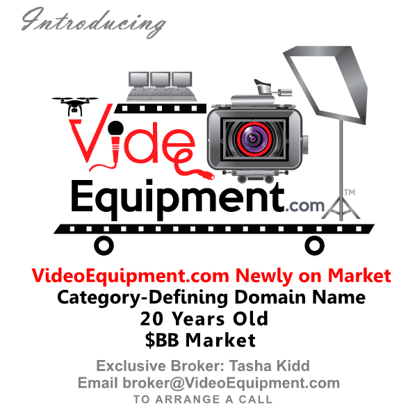VideoEquipment.com domain name newly on the market.